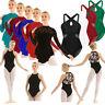 Women Mock Neck Long Sleeve Lace Lyrical Dress Contemporary Ballet Dance Costume