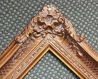 "5"" Bronze Picture Frame antique Gold Ornate photo museum Oil Painting Wood 255G"