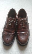 MENS GEORGE OLIVER BROWN LACE UP SHOES SIZE 10