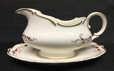 Royal Doulton Strasbourg H4958 Gravy Boat w/Unattached U. Plate-Made in England