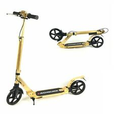 2017 Kick Scooter Adult Commuter Scooter Hand Brake Kids Birthday Gifts Gold