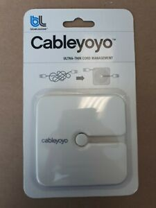 Cableyoyo White Ultra-Thin Cord Management by Blue-Lounge Cable Yoyo