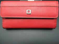 LODIS LEATHER WALLET Deep Pink / Pale Red Never Used