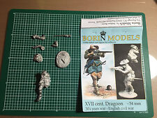 BORIN MODELS - XVII CENT. DRAGOON 30's YEARS WAR ENGLISH - 54mm WHITE METAL