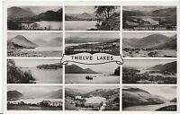 Cumbria Postcard - View of Twelve Lakes - Real Photograph   ZZ1193