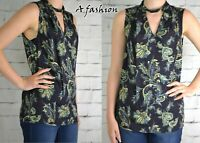 NEXT LADIES NAVY BLUE PAISLEY PRINT BLOUSE TOP 154 NEW