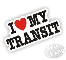 I Heart Love My Transit Ford MK1 MK2 MK3 MK4 MK5 MK6 MK7 Van Sticker Decal