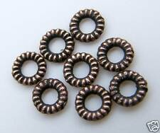 500pcs 5x1mm Metal Alloy Ring Spacers - Antique Red Bronze