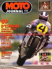 MOTO JOURNAL  700 Essai Test BMW R80 RT K100 RS + Jeaniel HONDA XL 600 LM 1985