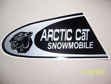 "3.5""X8"" (NEW Vinyl) ARCTIC CAT SNOWMOBILE with Cat Head(Copy of Vintage Sticker)"
