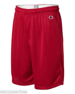 """Champion Mens NEW Size S-3XL Athletic Poly Mesh Gym 9"""" Inseam Basketball Shorts"""