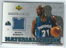 2006-2007 Rookie Debut Basketball Kevin Garnet Timberwolves Jersey Card