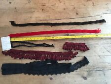 COLLECTION OF 6 TRIMS FOR  CRAFTS, MILLINERY, MACHINE EMBROIDERY, COSTUME