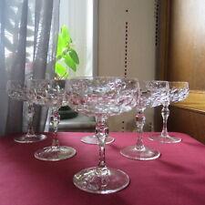 6 coupes a champagne en cristal Daum vannes le châtel modèle a définir L 2