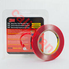3M 1/3in x 15ft VHB Heavy Duty Mounting Clear Tape 49109 thick 1 mm