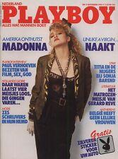 Dutch Playboy Magazine 1985-09 Venice Kong, Madonna, Dutch Girls Ahoy! ...