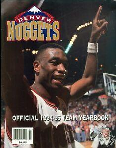 1994-95 Denver Nuggets Official Team Yearbook Dikembe Mutombo