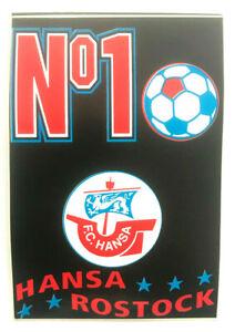 FC Hansa Rostock No. 1 Aufkleber Bundesliga Fussball #625