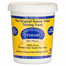 LM Stewart Pro-Treat 100% Freeze Dried Chicken Liver for Dogs 3 oz