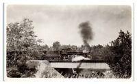 RPPC Maine Central Railroad Bridge and Train Locomotive Real Photo Postcard