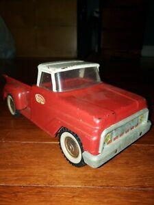 Vintage Tonka Truck Toy Pickup Red & White Pressed Steel
