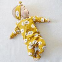 Cotton Newborn Infant Kids Baby Boy Girl Romper Bodysuit Jumpsuit Clothes Outfit