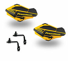 Powermadd Sentinel Handguards Guards Tri Mount Ski Doo Yellow Utility ATV Suzuki