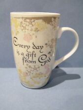 Gift From God Coffee Mug Porcelain Flowers Floral Dicksons Common Grounds 12 oz