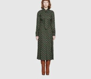 Gucci Interlocking G and belts print Silk dress- With Tags- RRP$3,900 AUD