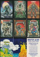 1991 THE ORIGINAL MONSTER IN MY POCKET COMPLETE TRADING CARDS SET + PUZZLE CARDS