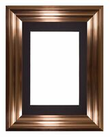 Bucharest Range Wide Frame Picture Photo Frames Decor With Mount Gold and Bronze