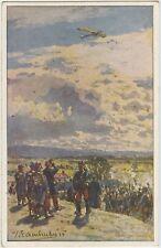 German Aeroplane Under Fire WW1 Postcard 1914-1918 (395)