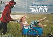 Coupure de presse Clipping 2012 Hélène de Fougerolles  l'île de Houat (6 pages)