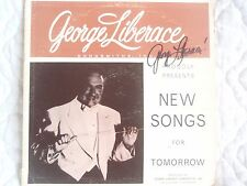 GEORGE LIBERACE NEW SONGS FOR TOMORROW LP SIGNED AUTOGRAPHED YELLOW VINYL DEMO