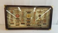 Sailor Rope Knots Nautical Maritime Map Framed Shadow Box Knot Display