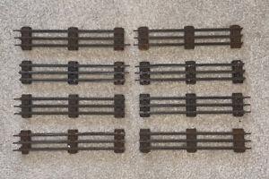 Lot Of 8 Vintage O-31 Gauge Lionel Tubular Straight Tracks
