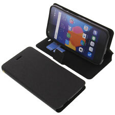 Case for Alcatel One Touch Pixi 4 5.0 4G Book-Style Protective Case Black Book