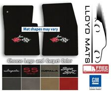 1958-1978 Impala Classic Loop Carpet Front Floor Mats - Choose Color & Logo