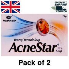 2 x Acnestar Benzoyl Peroxide Topical Agent Soap Acne Treatment Pimples 2.5% 75g