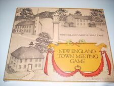 New England Town Meeting Board Game 1979 by Elizabeth Banks MacRury new