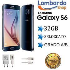 SAMSUNG GALAXY S6 BLU NERO G920 32GB RICONDIZIONATO GRADO A/B USATO
