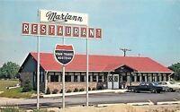 Scottsburg Indiana~Mariann Restaurant~1960-70s Cars~Postcard