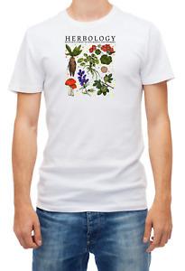 Herbology Plants, Short Sleeve White Men's,T-Shirt F083