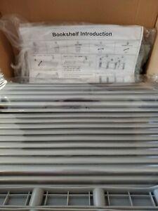 9-Cubes Book Shelf Office Storage Shelf Plastic Storage Cabinet (Grey) MSRP $45