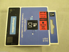 Compatible Dymo D1 12mm x 7m black on red Label tapes (45017) VAT included