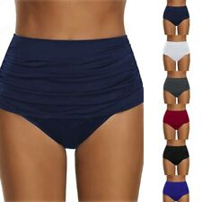 Women's High Waisted Swim Bottom Ruched Bikini Tankini Swimsuit Briefs Plus Size