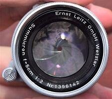 Ernst Leitz GmbH Wetzlar Summicron f=5cm 1:2 Lens - Made in Germany