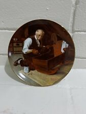 """Knowles 1987 Norman Rockwell Collector Plate """"Grandpa's Gift�"""