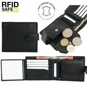 Genuine Leather Mens Wallet Bifold Credit Card Coin Purse RFID Blocking AUS