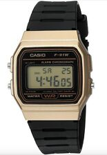 Casio Watch * F91WM-9A Classic Gold & Black Resin Square Digital COD PayPal